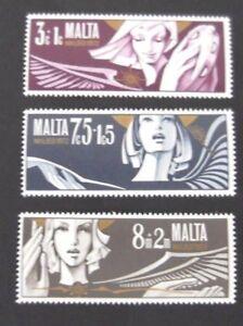 Original Malte - 1972-noël Set-neuf Sans Charnière-istmas Set-mnh Fr-fr Afficher Le Titre D'origine Jolie Et ColoréE