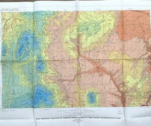 Details about United States Geological Survey Map USGS 1972 Salina Utah 41\