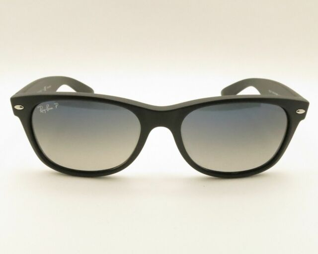 652184a3c1e Ray-Ban RB2132 601S78 55mm Matte Black Polarized With Blue Gradient ...
