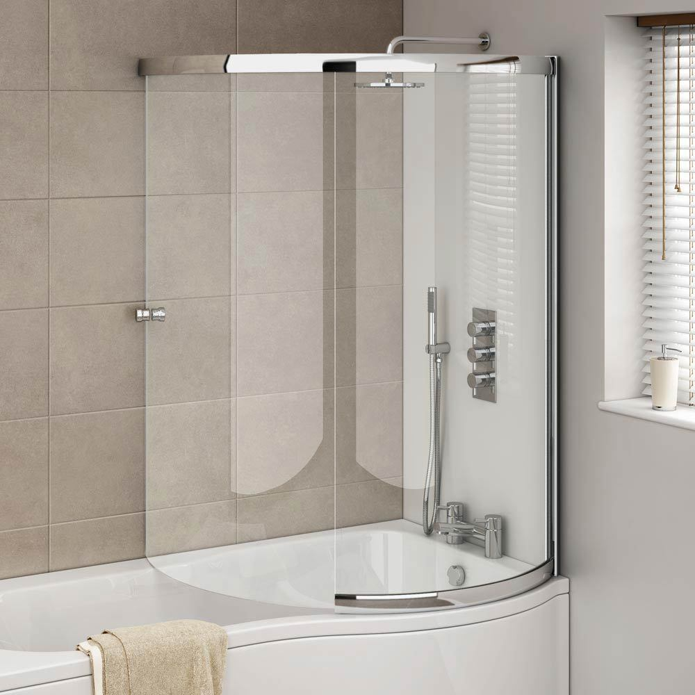1500 Shower Baths p shape shower bath 1500 1700mm with full screen left or right hand