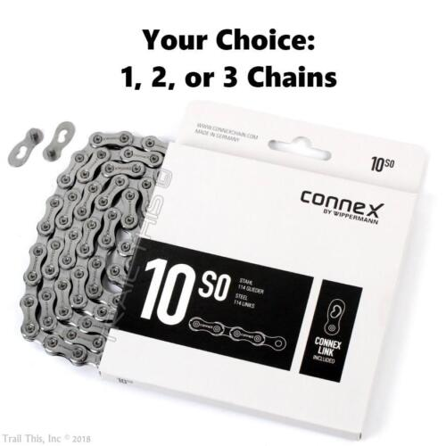 ConneX 10S0 10-Speed Road MTB Bike Chain 114-links fit SRAM Shimano Campy 10SO