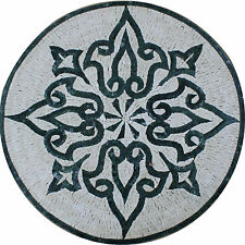 Floral Greek Ancient Touch Decor Garden Home Marble Mosaic MD1485