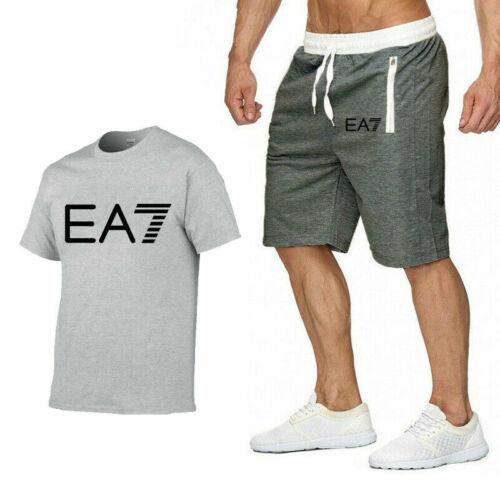 Mens T Shirts Bottoms Shorts Set Jumper Summer Fitness Tee Pants Tracksuits Tops