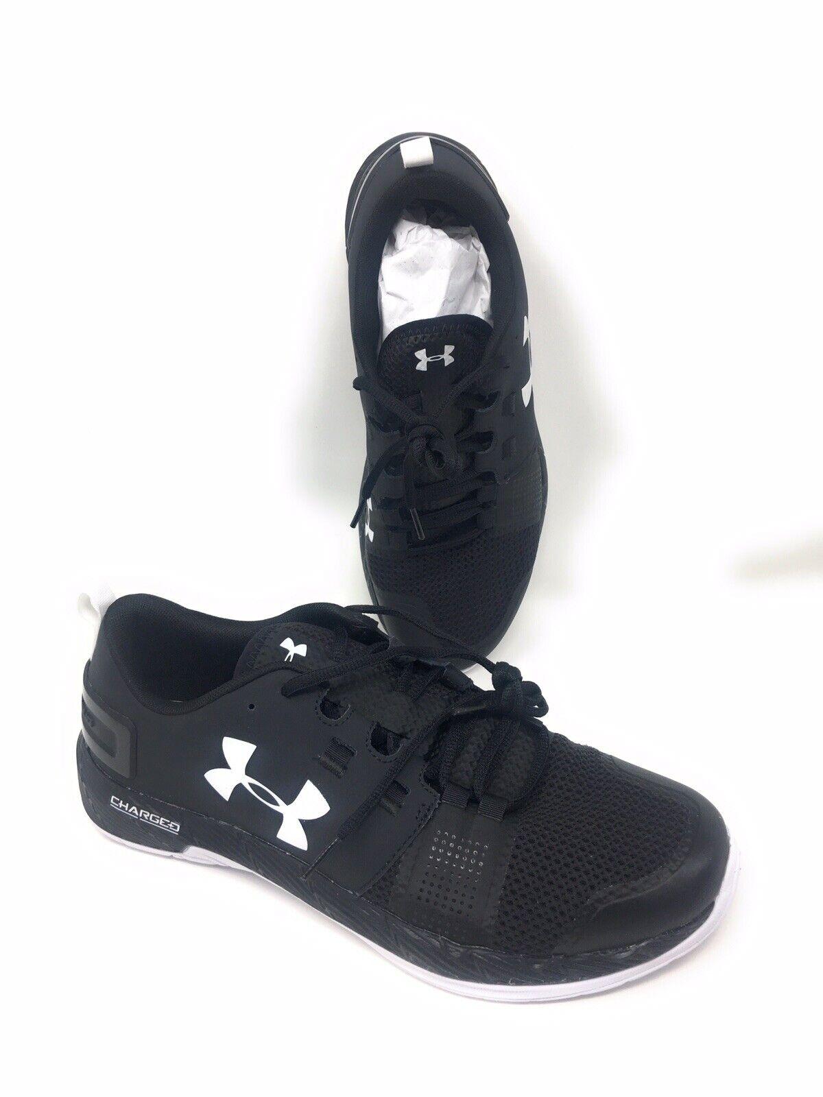 Under Armour Commit Commit Commit TR Uomo Running scarpe 10.5 nero bianca UA Athletic 3ae120