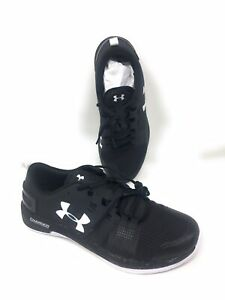 separation shoes 1df1b 29f6e Details about Under Armour Commit TR Men's Running Shoe 10.5 Black White UA  Athletic