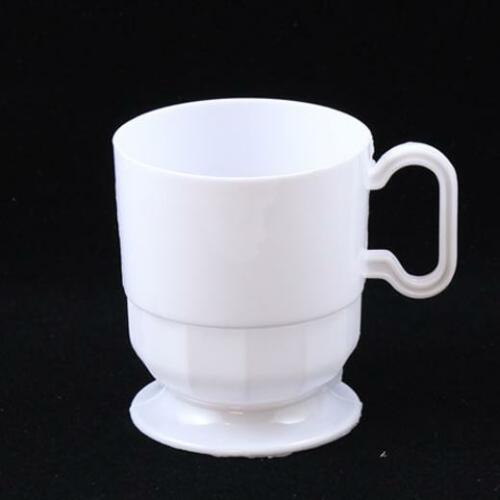 192- 8 Oz Disposable Plastic Coffee Cups in Clear, White, or Ivory- FREE SHIP