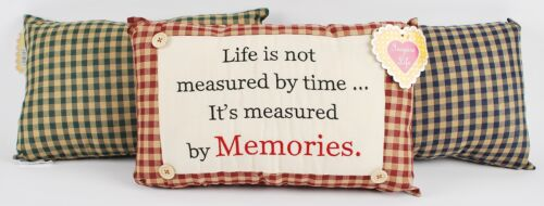 """Novelty /""""Life Is Not Measured By Time/"""" Cushion 38 x 23cm By Inspire Life"""