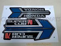 Honda C70 Super Cub 70 Blue Paper Stickers Logos Emblems H2070