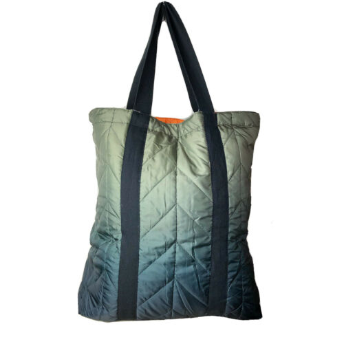 Ombre 50x60 Throw Blanket With Reversible Carrying  Tote