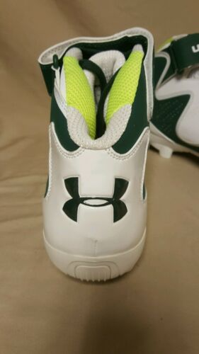 Under Armour Team Renegade MC White//Green Football Cleats Size 14 1244409-709