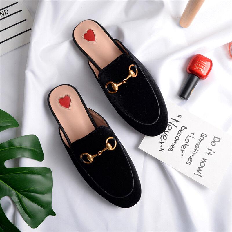 Donna Real Pelle Backless Loafer Slippers Slide Slide Slide Princetown Casual Scarpe 42b6c1