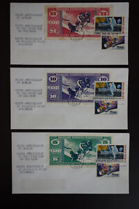 US-MPC-Currency-Space-Anniversary-Stamp-Cover-Set-of-8