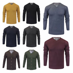 Mens-Brave-Soul-V-Neck-Knitted-Jumper-Sweater-New-Sizes-S-to-5XL-XXXXXL