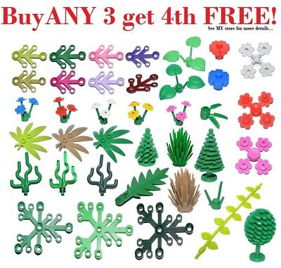 Plant Leaves Vines Flowers 6x5 4x3 Trees Palm LEGO 25x Greenery Piece Lot