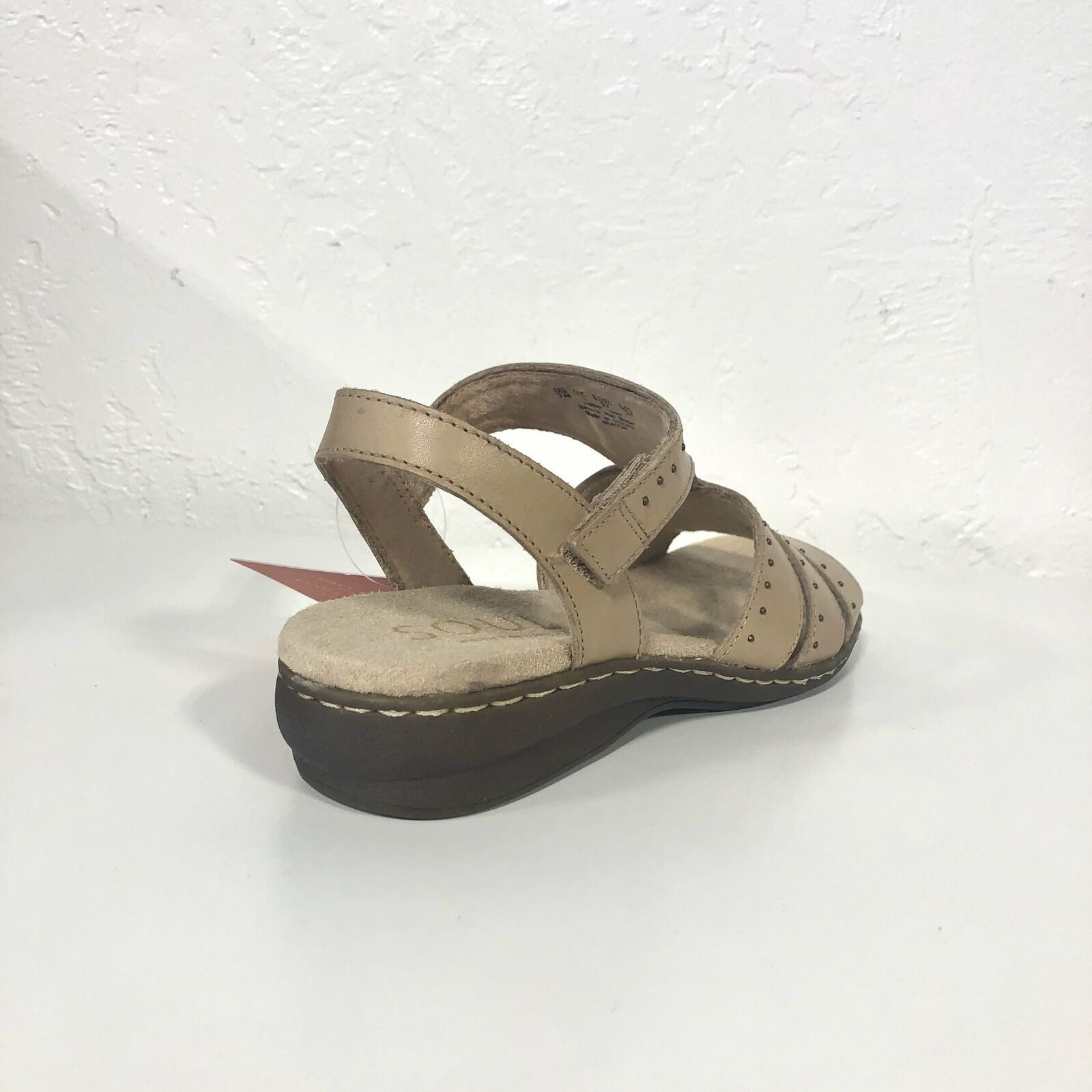 Beacon Gingersnap Leather Sandals Flats