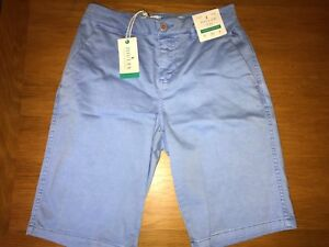 9c423ac0f4d JOULES Rylee Chino Style Longer Length Shorts Sz 8 Lt Blue RP£39.95 ...
