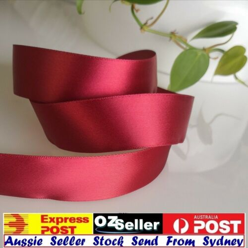 5M x25mm Single Sided Satin Ribbon For Invitation/&Craft,Bows Burgendy OnSpecial