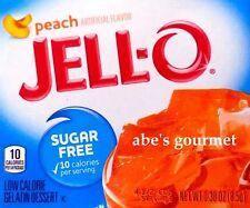 JELL-O Sugar Free Low Calorie Gelatin Dessert: Peach (6 Pack) .30 oz Boxes