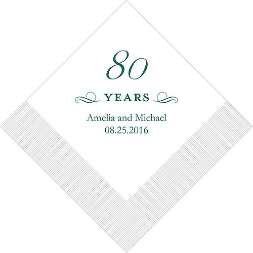 300 Personalized 80th Birthday Luncheon Napkins