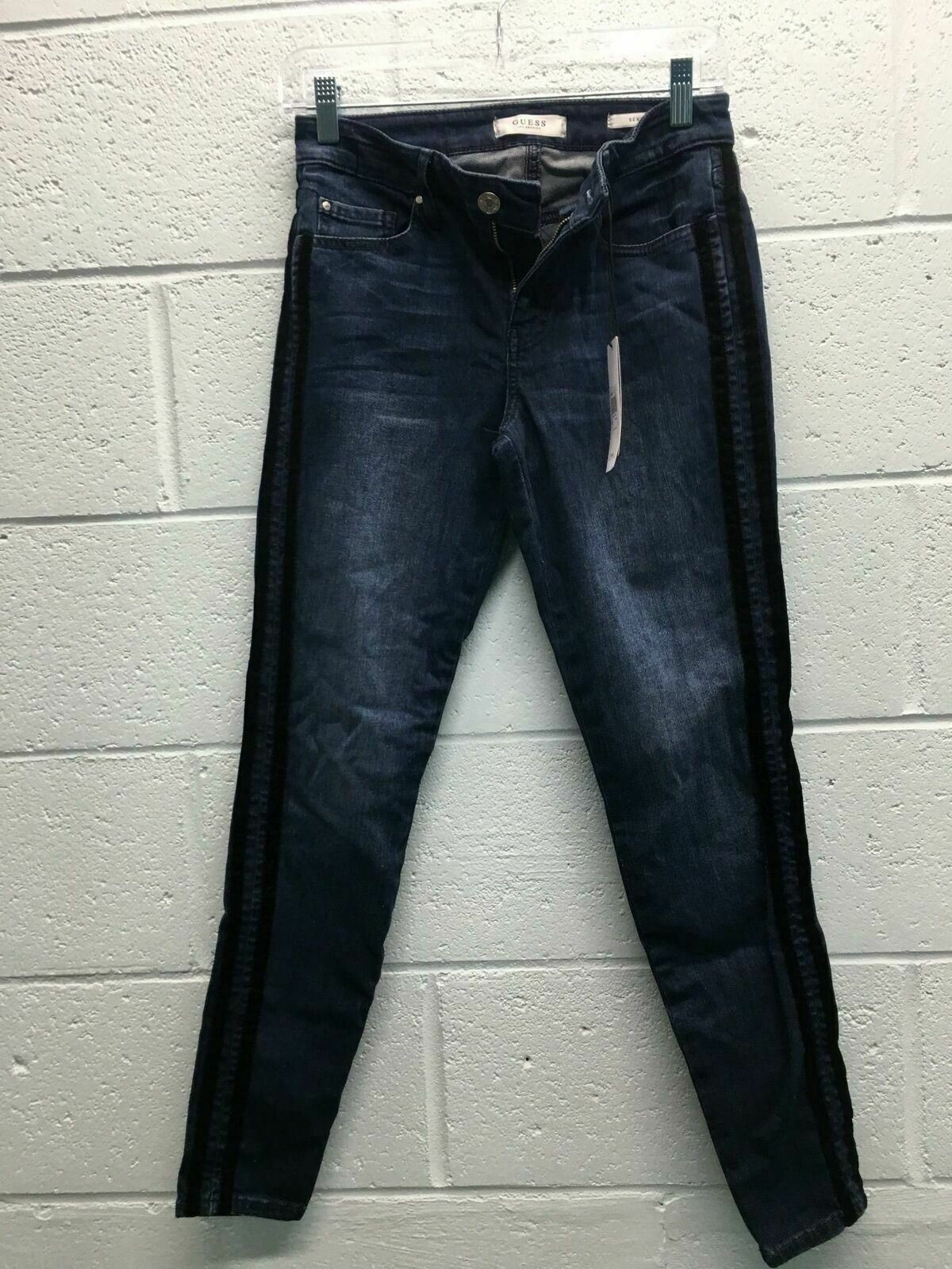 Women's Guess Los Angeles Jeans Size 29 bluee Cotton Lyocell Elasterell Spandex