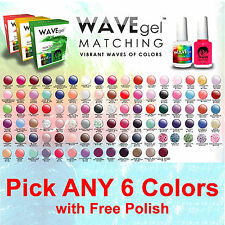 WaveGel Match Gel with Polish Kit PICK ANY 6 Colors Lechat Perfect OPI