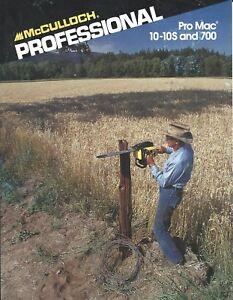 Equipment-Brochure-Ad-McCulloch-Pro-Mac-10-10S-700-Chain-Saw-2-item-1991-E4570