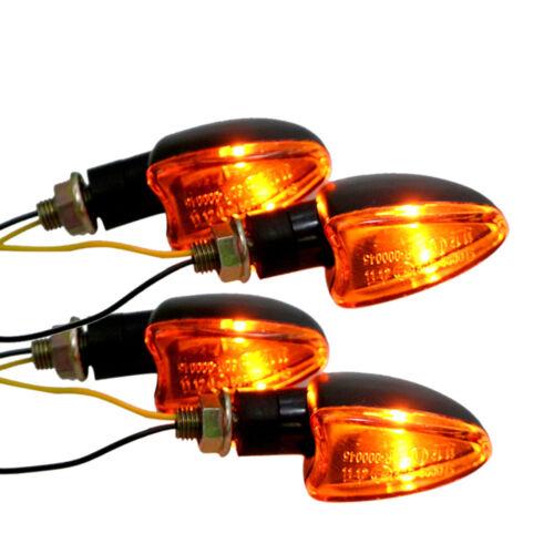 4x Motorcycle Turn Signal Light Indicator For Honda CBR 125R 250R 300R 500R 650F