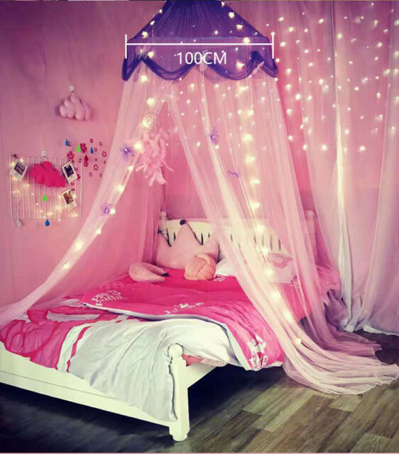 Chiffon Princess Bed Canopy 27 Inch Girls Pink Purple Baby Crib Bedroom Scarf For Sale Online Ebay