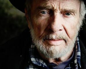 GLOSSY-PHOTO-PICTURE-8x10-Merle-Haggard-Serious-With-Hat