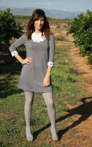 40 denier **REDUCED** Luxury Light Grey Opaques UltraCover Tights//Pantyhose