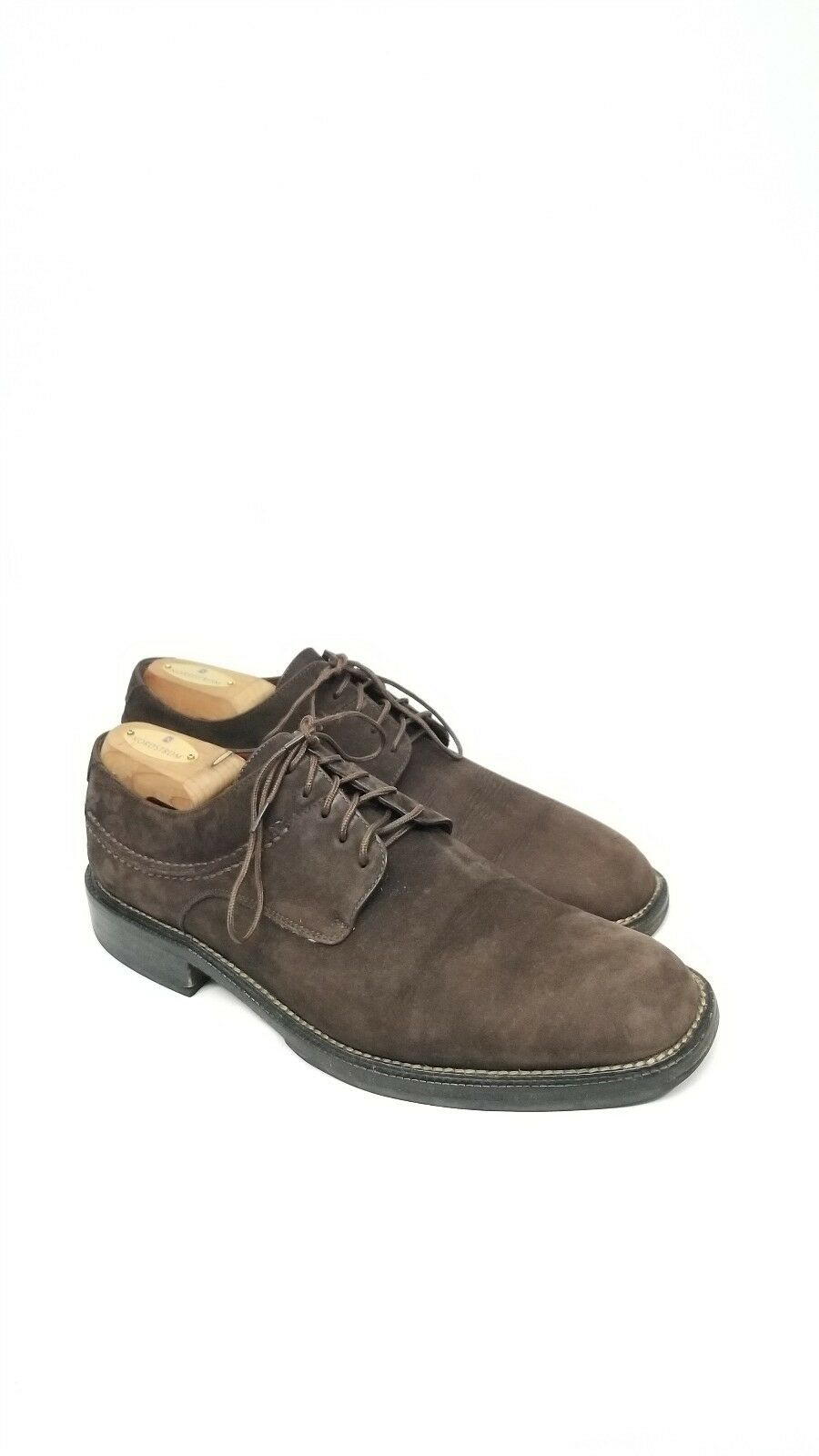Men's Cole Haan Lace Up Dress shoes Brown Suede Leather 10 M