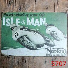 Metal Tin Sign norton isle of man home Bar Pub Vintage Retro Poster Cafe ART