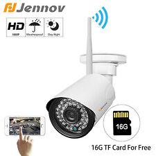 Jennov 1080P Wireless WiFi IP Camera Home Security Surveillance Outdoor SD Card