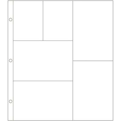 """Becky Higgins Project Life 10""""x12"""" Photo Pocket Pages Design G - Pack of 12"""