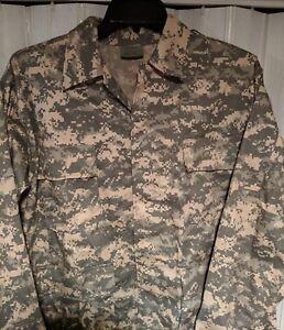 Mens-ACU-Digital-Camouflage-Military-BDU-Shirt-Uniform-Army-Coat-Fatigues-NWT