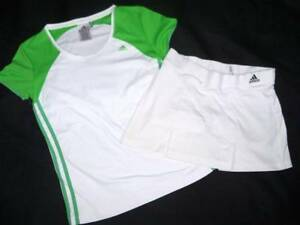 buy online 790fe 8948f Image is loading Womens-Adidas-Climacool-Tennis-Set-XS-Pleated-Skirt-