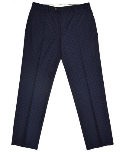 Brooks Brothers Mens Navy Blue Mini Check Classic Fit Dress Pants 37W 32L 5928-3
