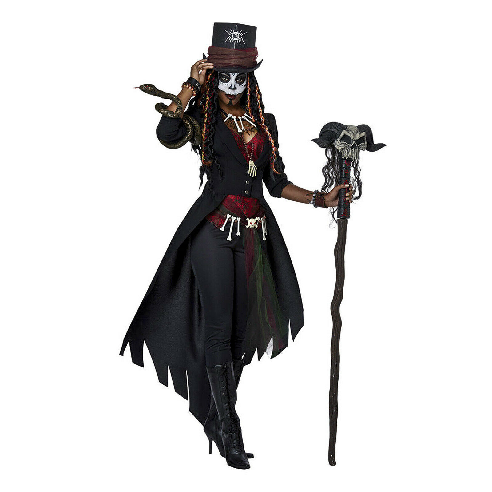 Voodoo Priestess Witch Doctor Halloween Costume Plus Size 3x For Sale Online Ebay