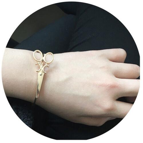 Fashion Adjustable Scissors Wristband Bangle Cuff Bracelet for Women Jewelry HOT