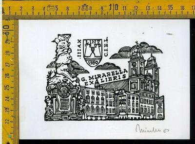 MIRABELLA G. 1982 firmati. Ex libris islamici con 14 ex libris orig Milano