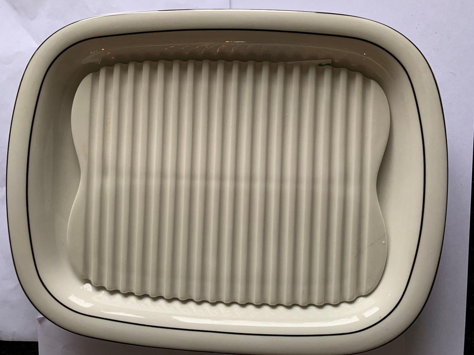 Goebel Fleischplatte   Servierplatte mit Einsatz für Spargel 31,5 31,5 31,5 x 24,5 cm | Nicht so teuer  fffeb9