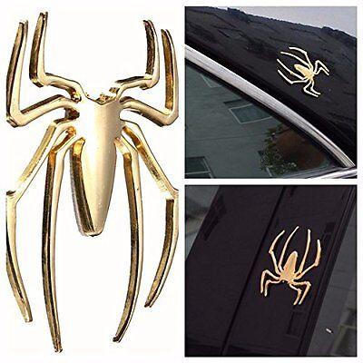 Auto 3D Universal Car Truck Spider Golden Badge Sticker Logo Emblem Marker