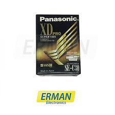 2 x VIDEO CASSETTA VHSC SE-C30 30MIN Xdpro Super VHS compatta