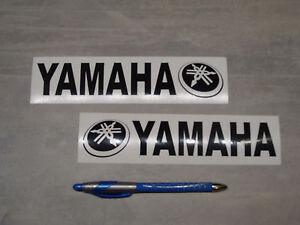 2x aufkleber f r yamaha schwarz 19cm motorrad bikes. Black Bedroom Furniture Sets. Home Design Ideas