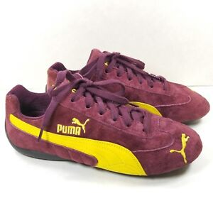 Details about NEW Puma Women Sz 8.5 Classic Sneakers Suede Purple Burgundy Wine Yellow Swoop