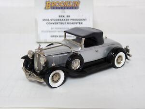 Brooklin-BRK88-1-43-1931-Studebaker-President-Convertible-Handmade-White-Metal