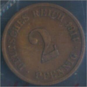 German-Empire-Jagerno-11-1914-J-very-fine-Bronze-1914-2-Pfennig-Eagle-7848974