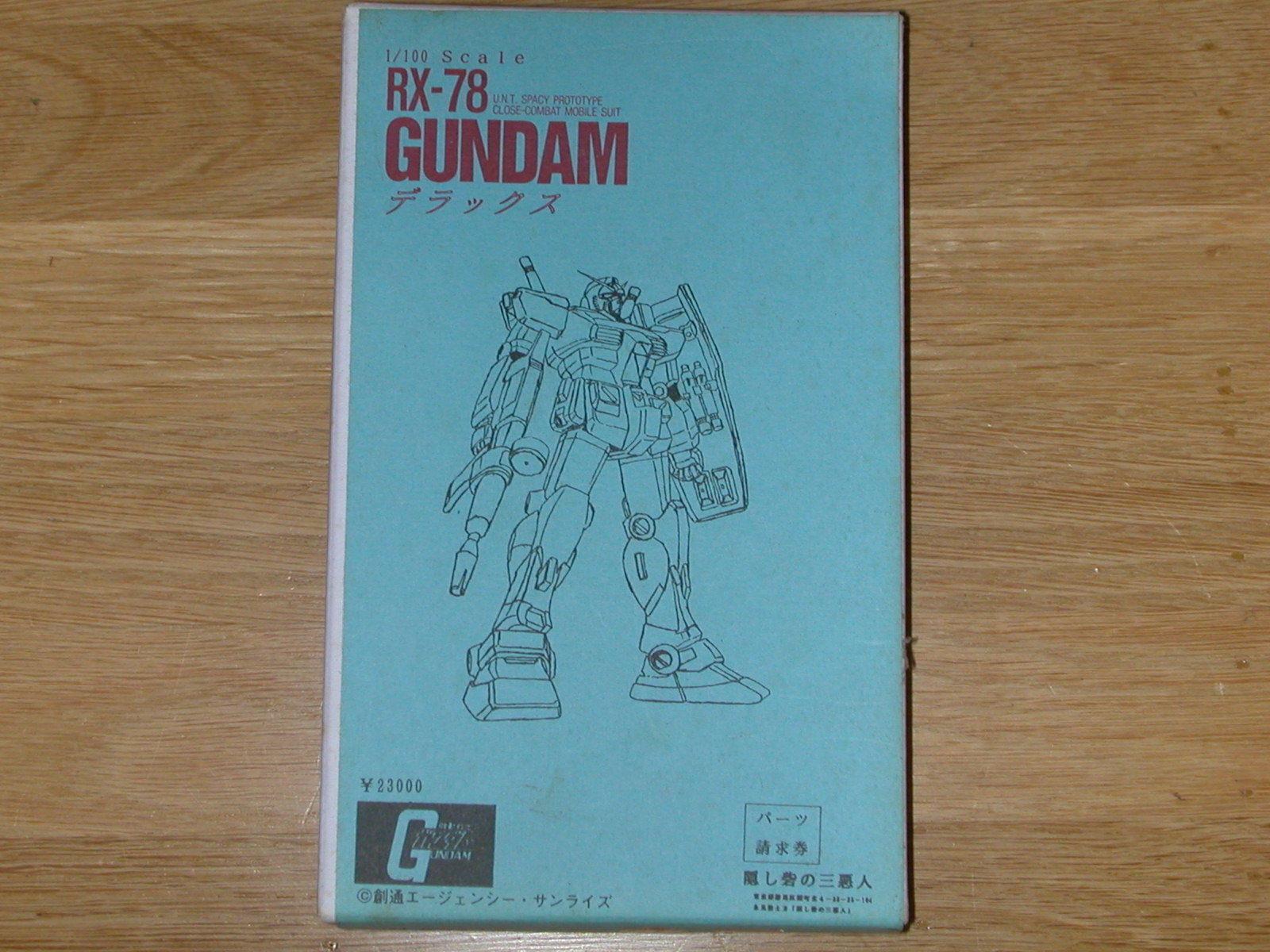 Gundam RX-78 Deluxe 1 100 scale resin (Hidden Fort People JAF'CON 1992) Gundam