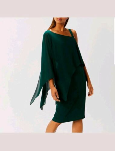 Taglia New Rae Weeding Green One Shoulder Forest 8 Christmas Coast Drape Dress xZ0O0w