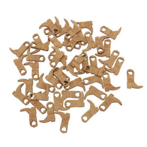 Image is loading 50pcs-Cowboy-Boot-Wooden-Embellishments-Crafts-for-Wedding- 0995468ffc56